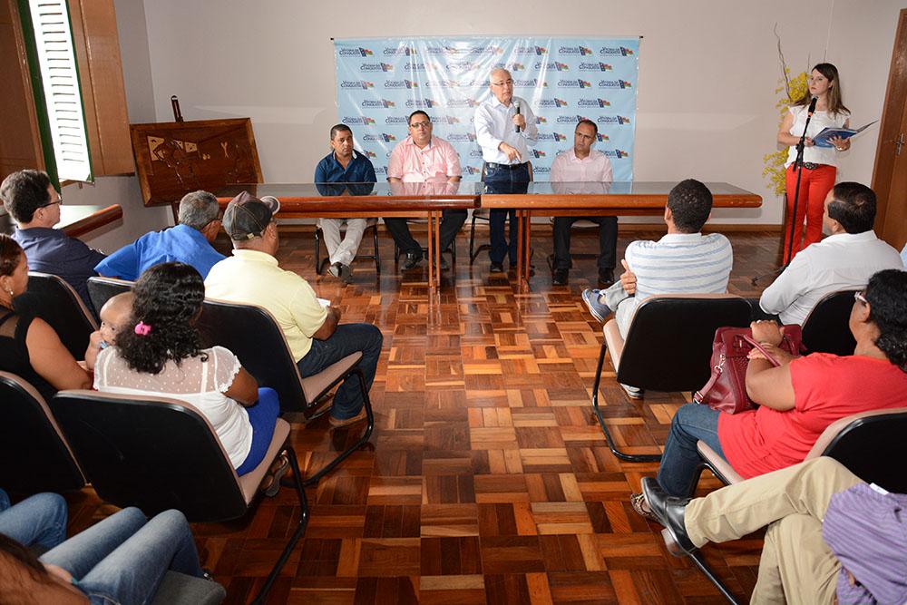 Assinatura da OS da quadra poliesportiva de São Joaquim