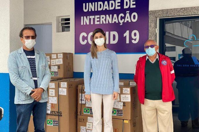 Prefeitura entrega cinco respiradores mecânicos à Santa Casa de Misericórdia