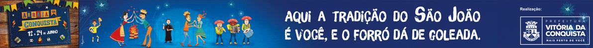 Banner Arraiá 2018