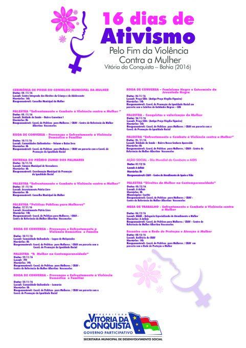 programacao-dos-16-dias-de-ativismo-pelo-o-fim-da-violencia-contra-a-mulher