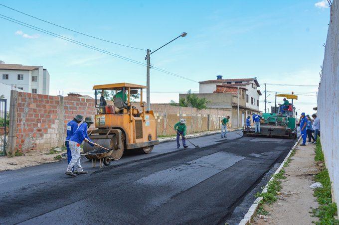 Bairro Alegria está mudando: pavimentação já é realidade
