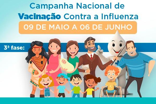 3ª fase da Campanha de Vacinação tem início no dia 11 de maio