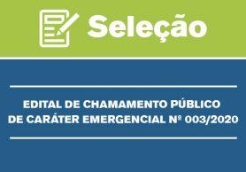 Chamamento Emergencial 03/2020: CLASSIFICAÇÃO FINAL