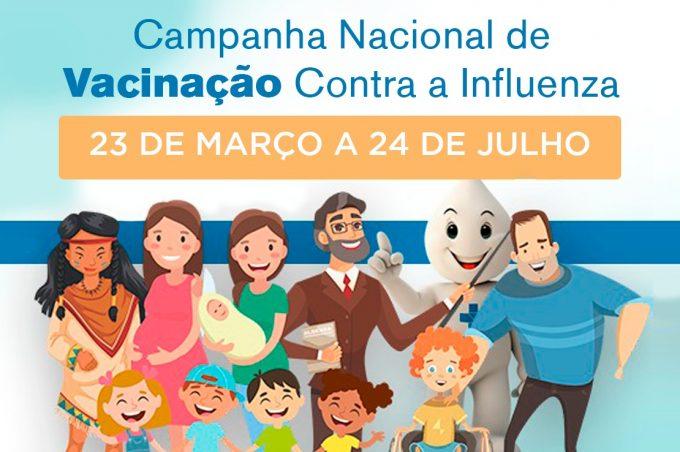Campanha de Vacinação contra gripe Influenza é prorrogada até 24 de julho