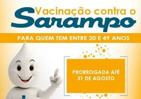 Vacinação contra o Sarampo é prorrogada para o público adulto