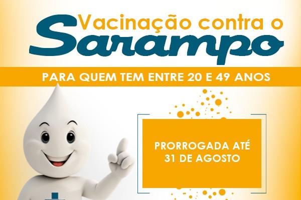 Campanha de Vacinação contra o Sarampo segue até o dia 31 de agosto