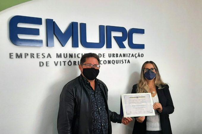 Emurc recebe homenagem da Câmara de Vereadores de Vitória da Conquista