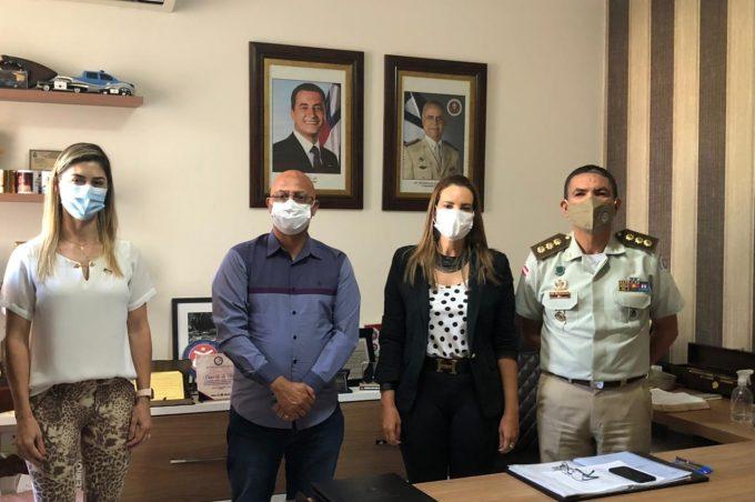 Governo Municipal se reúne com PM para discutir apoio na distribuição da vacina contra Covid