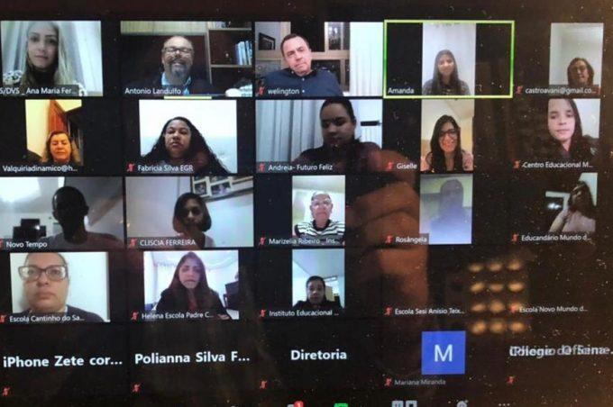 SMS e escolas particulares discutem alinhamento de protocolo das aulas semipresenciais com o do Município