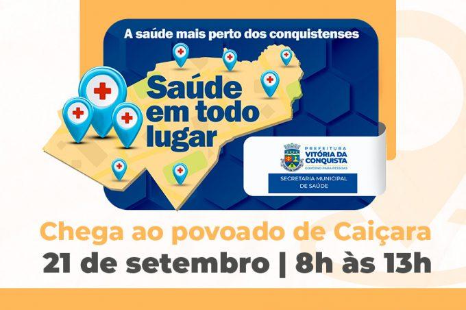 Projeto Saúde em Todo Lugar chega ao povoado de Caiçara nesta terça-feira