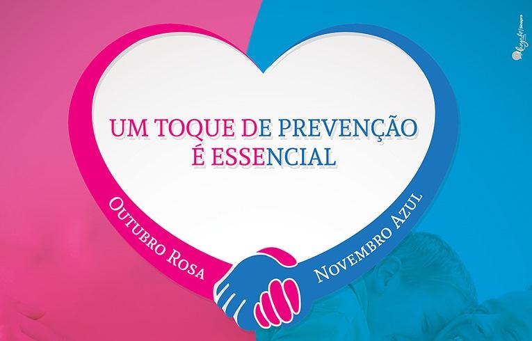 Novembro Azul conscientiza sobre c u00e2ncer de próstata em Vitória da Conquista Prefeitura  -> Decoração De Outubro Rosa E Novembro Azul