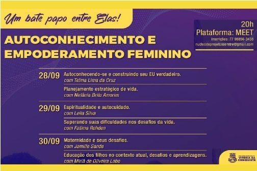 """Semtre promove bate-papo online sobre """"Autoconhecimento e Empoderamento Feminino"""""""