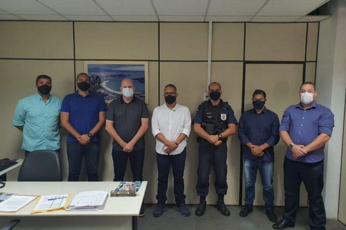 Comando da Guarda Municipal realiza visita técnica em Vitória para conhecer procedimentos operacionais
