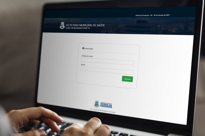Prefeitura cria sistema para disponibilizar resultados online dos testes para Covid-19