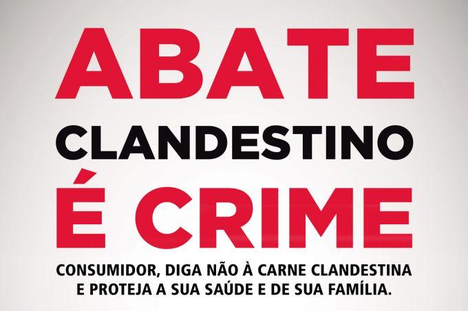 Prefeitura promove campanha contra abate clandestino