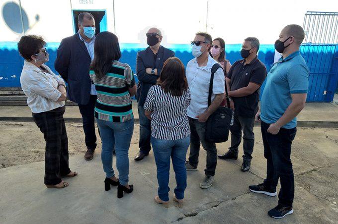 Equipe da Smed visita Escola Municipal Domingos de Oliveira na Limeira